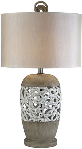Ok Lighting OK-4241T Carved Strings Table Lamp - Peazz.com