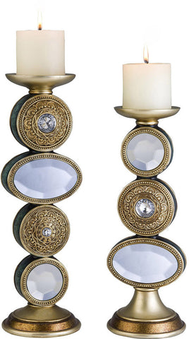 Ok Lighting OK-4261C Bejeweled Candleholder Set - Peazz.com