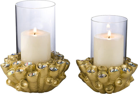 Ok Lighting OK-4270-C5 Auric Twists Candleholder Set (Candle Not Included) - Peazz.com