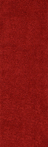 Nuloom OZSG03A-2808 Easy Shag Collection Really Red Finish Machine Made Venetia Shaggy Rug - Peazz.com