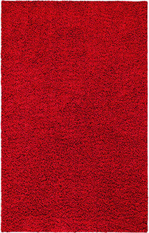 Nuloom OZSG03A-508 Easy Shag Collection Really Red Finish Machine Made Venetia Shaggy Rug - Peazz.com