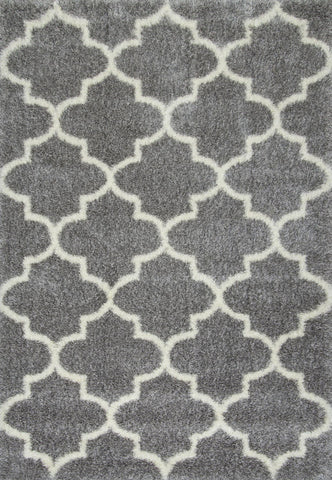 Nuloom OZSG16B-92012 Plush Shag Collection Grey Finish Luna Trellis Shag - Peazz.com