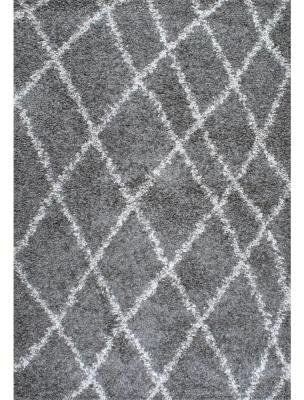 Nuloom OZSG17B-8010 Easy Shag Collection Grey Finish Alvera Easy Shag - Peazz.com