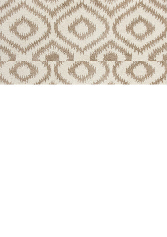 "KAS Rugs Oasis 1651 Ivory/Beige Concentro Machine-Woven Microfiber 3'3"" x 5'3"""