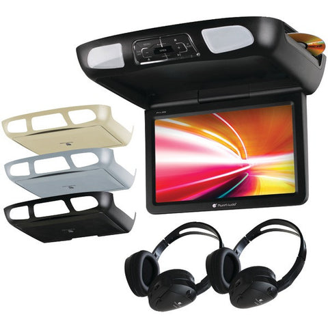 "Planet Audio P11.2ES 11.2"" Ceiling-Mount TFT DVD Player with Built-in IR Transmitter, FM Modulator & 3 Color Housings - Peazz.com"