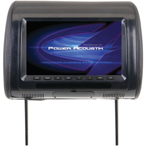 "Power Acoustik H-91CC Universal Headrest Monitor with IR Transmitter & 3 Interchangeable Skins (9"") - Peazz.com"