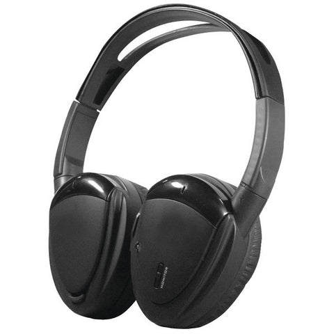 Power Acoustik HP-900S Swivel Ear Pad, 2-Channel RF 900MHz Wireless Headphones - Peazz.com