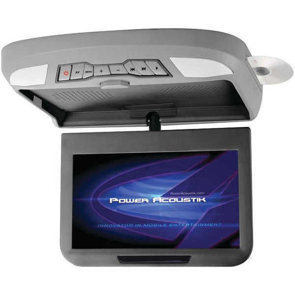 "Power Acoustik PMD-102X 10.2"" Ceiling-Mount Swivel DVD Entertainment System with IR & FM Transmitters & 3 Interchangeable Skins"