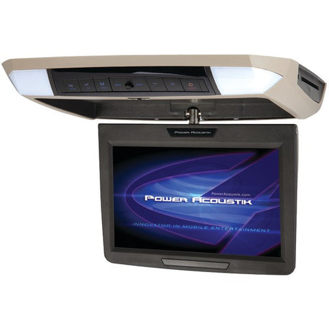 "Power Acoustik PMD-112 11.2"" Ceiling-Mount Swivel DVD Entertainment System with IR & FM Transmitters & 3 Interchangeable Skins - Peazz.com"