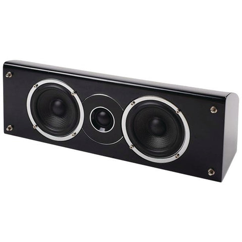 "pure acoustics Noble-IIC 4"" 2-Way Noble II Gloss Black Center Channel Speaker - Peazz.com"