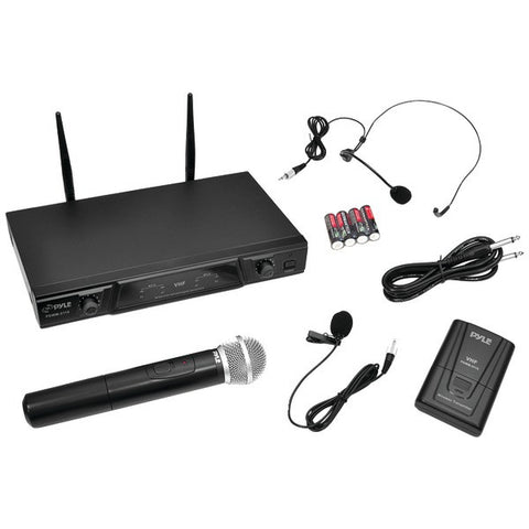 Pyle PDWM2115 VHF Wireless Microphone Receiver System with Independent Volume Control