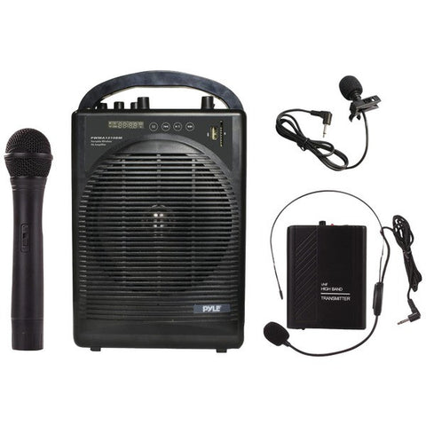 Pyle Pro PWMA1216BM Portable Amplifier & Microphone System with Bluetooth