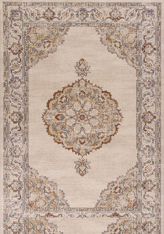 "KAS Rugs Pesha 7205 Oatmeal Imperia Machine-Made 100% Polypropelene Frisee Yarn 2'7"" x 4'11"""