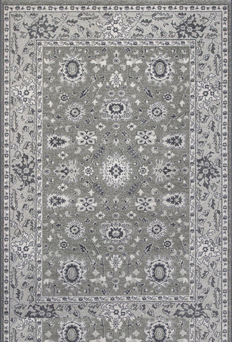 "KAS Rugs Pesha 7206 Taupe/Grey Agra Machine-Made 100% Polypropelene Frisee Yarn 7'10"" Round"