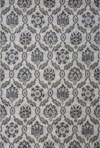 "KAS Rugs Pesha 7212 Oatmeal Jacardi Machine-Made 100% Polypropelene Frisee Yarn 2'3"" x 7'6"" Runner"