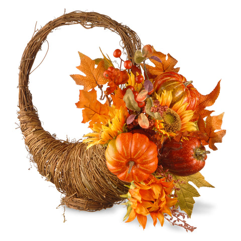 "National Tree RAHV-Q060177A Harvest Accessories-22"" Maples & Pumpkins Room Décor"