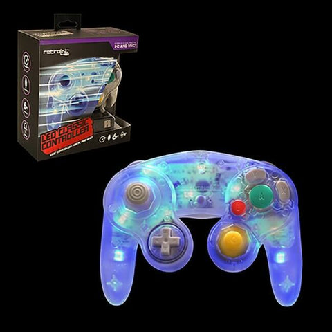 PC Wired GC Style Controller With Blue LED (RB-PC-3842)
