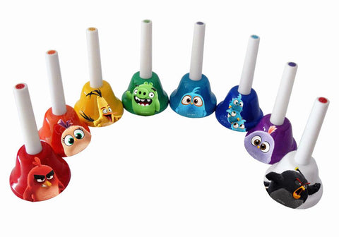 Angry Birds 8 Note Ring On! Metal Hand Bells - Set of 8