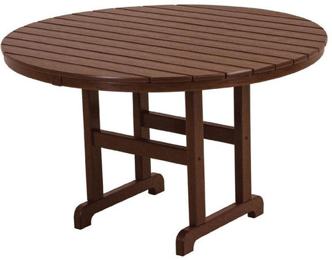 "Polywood RT248MA Round 48"" Dining Table Mahogany Finish - PolyFurnitureStore - 1"