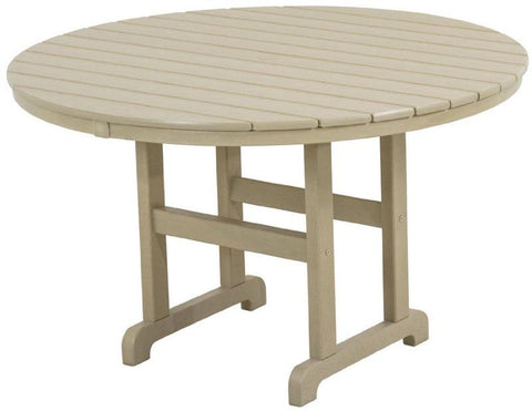 "Polywood RT248SA Round 48"" Dining Table Sand Finish - PolyFurnitureStore - 1"
