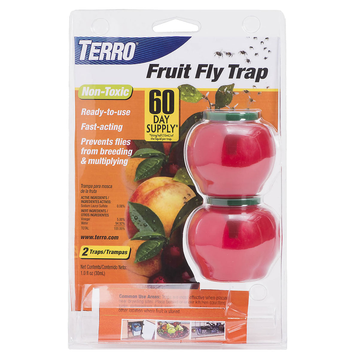 Terro S27-25006 Fruit Fly Trap 2 Pack