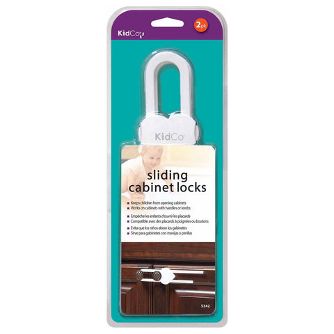 Kidco S342 Sliding Cabinet and Drawer Lock 2 pack