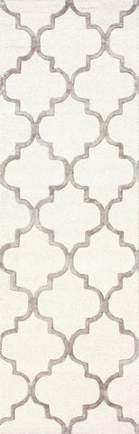 Nuloom SBHAC13A-2608 Caspian Collection Nickel Finish Hand Tufted Park Avenue Trellis - Peazz.com