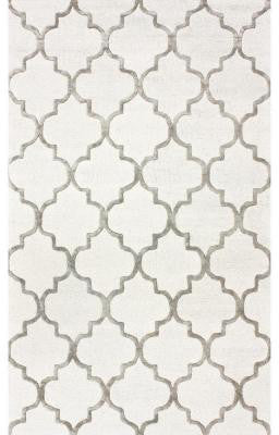 Nuloom SBHAC13A-406 Caspian Collection Nickel Finish Hand Tufted Park Avenue Trellis - Peazz.com