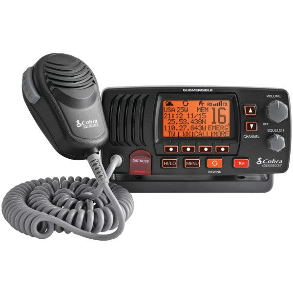 Cobraselect Mr F57b Marine Fixed Mount Vhf Radio (black)
