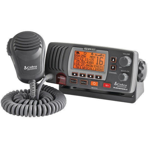 cobraselect mr f77b gps marine fixed mount vhf radio with built in gps. Black Bedroom Furniture Sets. Home Design Ideas
