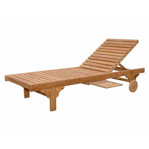 Anderson Teak SL-071 Capri Sun Lounger Adjusted Back and Side Tray - Peazz.com
