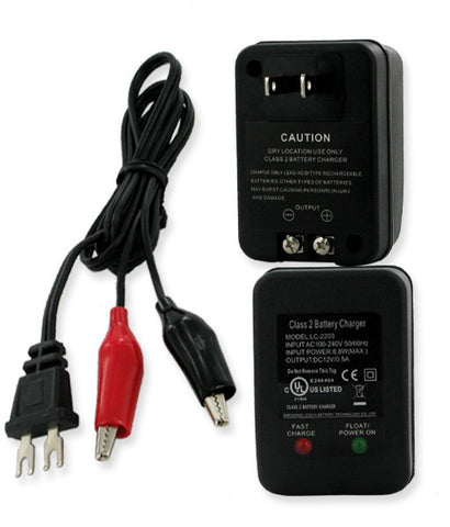 Empire Scientific SLAC-12500 Sla 12V500Mah Automatic Float Charger With Alligator Clips - Peazz.com
