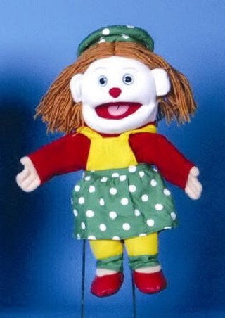 "Sunny & Co Toys GL1906 Female Clown Puppet 14"" by Sunny and Co - Peazz.com"