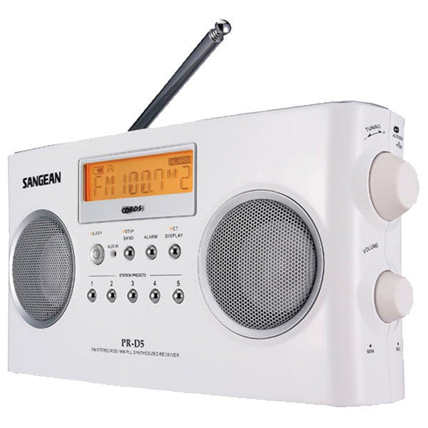 Highside Chemicals PRD5 Digital Portable Stereo Receivers with AM/FM Radio (White)