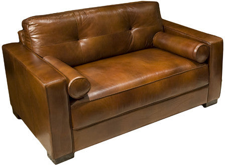 Element Home Furnishing SOH-OC-RUST-1 Soho Top Grain Leather Oversized Accent Chair in Rustic - Peazz.com