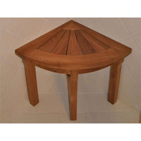Anderson Teak SPA-1919 Shower Stool Corner - Peazz.com