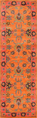 Nuloom SPRE21A-26010 Remade Collection Orange Finish Hand Tufted Montesque - Peazz.com