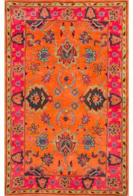 Nuloom Collection Orange Hand Tufted Montesque Remade