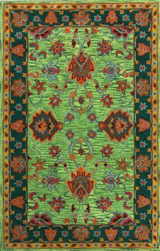 Nuloom SPRE21B-76096 Remade Collection Green Finish Hand Tufted Montesque