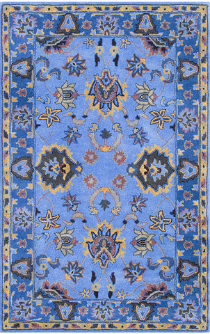 Nuloom SPRE21D-76096 Remade Collection Blue Finish Hand Tufted Montesque - Peazz.com