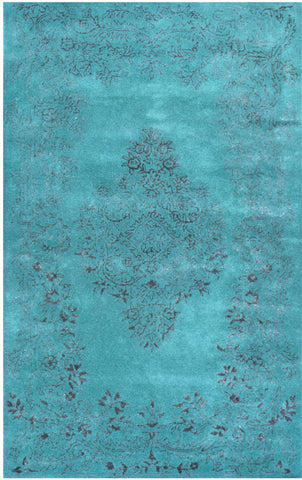 Nuloom SPRE23A-406 Agra Collection Blue Finish Hand Tufted Oceania - Peazz.com