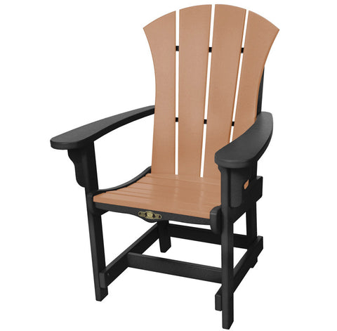 Pawleys Island Hammocks SRDCA1BLKCD Sunrise Dining Chair w/ Arms-Black/Cedar (W 28.5 x H 41.5 in.) - Peazz.com