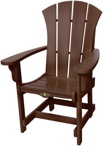 Pawleys Island Hammocks SRDCA1CHO Sunrise Dining Chair w/ Arms-Chocolate (W 28.5 x H 41.5 in.) - Peazz.com