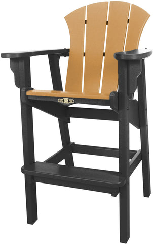 Pawleys Island Hammocks SRHDC1BLKCD Sunrise High Dining Chair-Black/Cedar (W 29 x H 49.5 in.) - Peazz.com