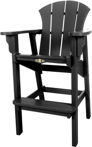Pawleys Island Hammocks SRHDC1BLK Sunrise High Dining Chair-Black (W 29 x H 49.5 in.) - Peazz.com