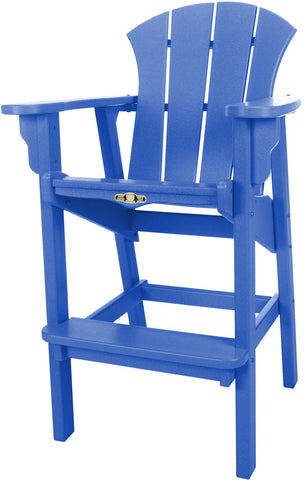 Pawleys Island Hammocks SRHDC1BLU Sunrise High Dining Chair-Blue (W 29 x H 49.5 in.) - Peazz.com