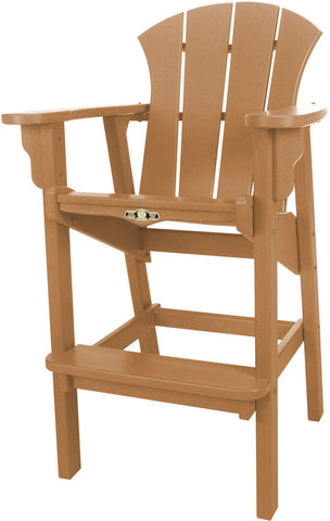 Pawleys Island Hammocks SRHDC1CD Sunrise High Dining Chair-Cedar (W 29 x H 49.5 in.) - Peazz.com