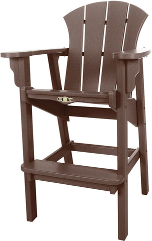 Pawleys Island Hammocks SRHDC1CHO Sunrise High Dining Chair-Chocolate (W 29 x H 49.5 in.) - Peazz.com