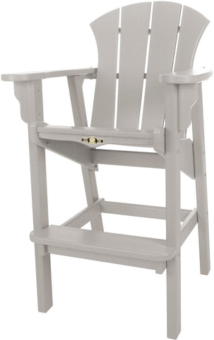 Pawleys Island Hammocks SRHDC1GRY Sunrise High Dining Chair-Gray (W 29 x H 49.5 in.) - Peazz.com - 1