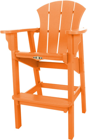 Pawleys Island Hammocks SRHDC1OR Sunrise High Dining Chair-Orange (W 29 x H 49.5 in.) - Peazz.com